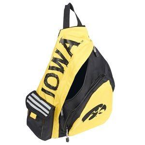 Unisex IOWA HAWKEYES lead off sling backpack NWT